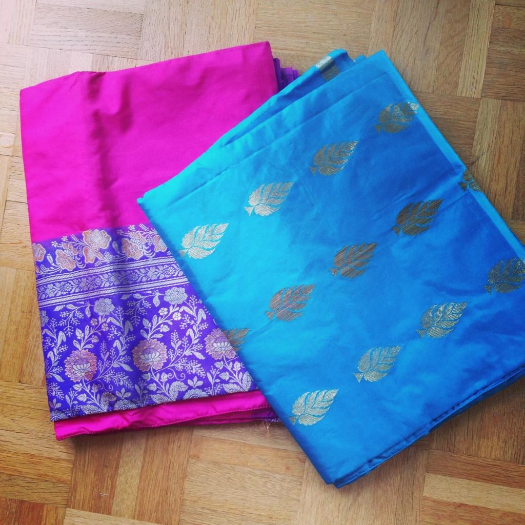 Les saris envoyés par mon cousin
