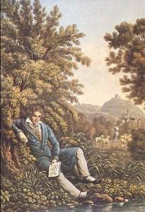 Beethoven composant la symphonie pastorale