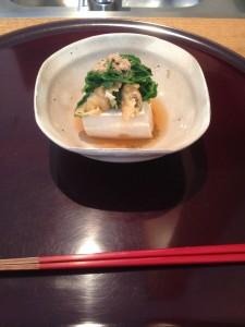 Entrée au tofu