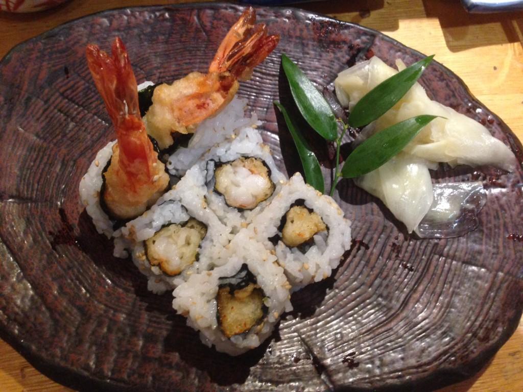 Maki de crevette tempura