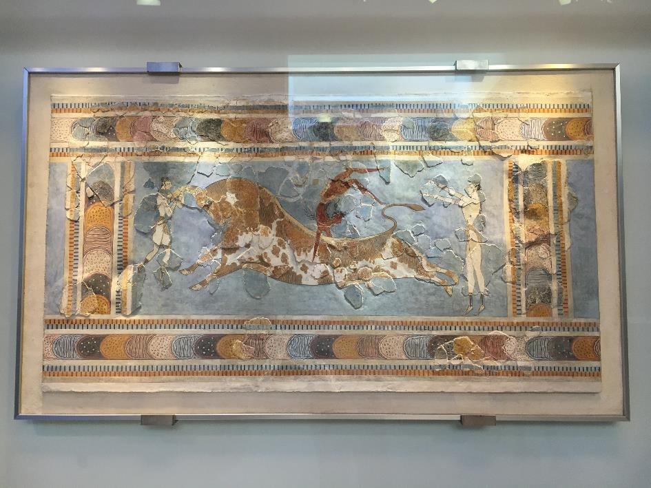La célèbre fresque du taureau...