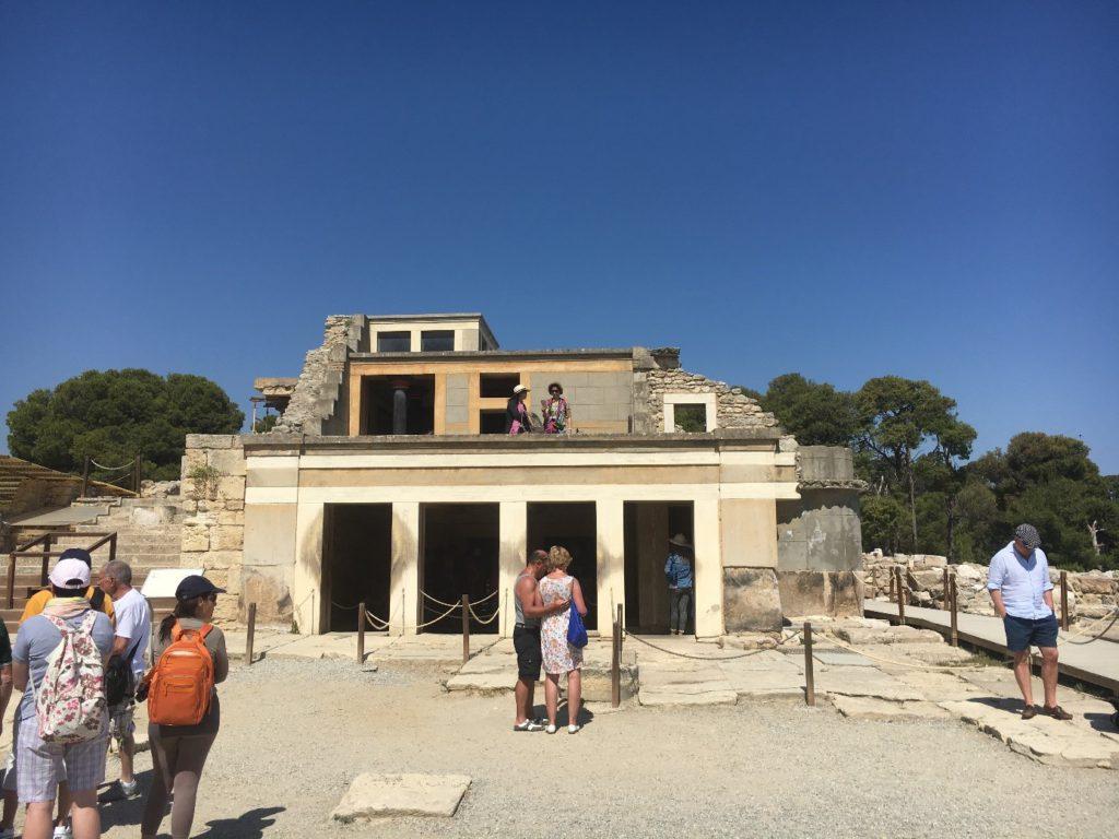 Un exemple de reconstruction : les différents niveaux du palais